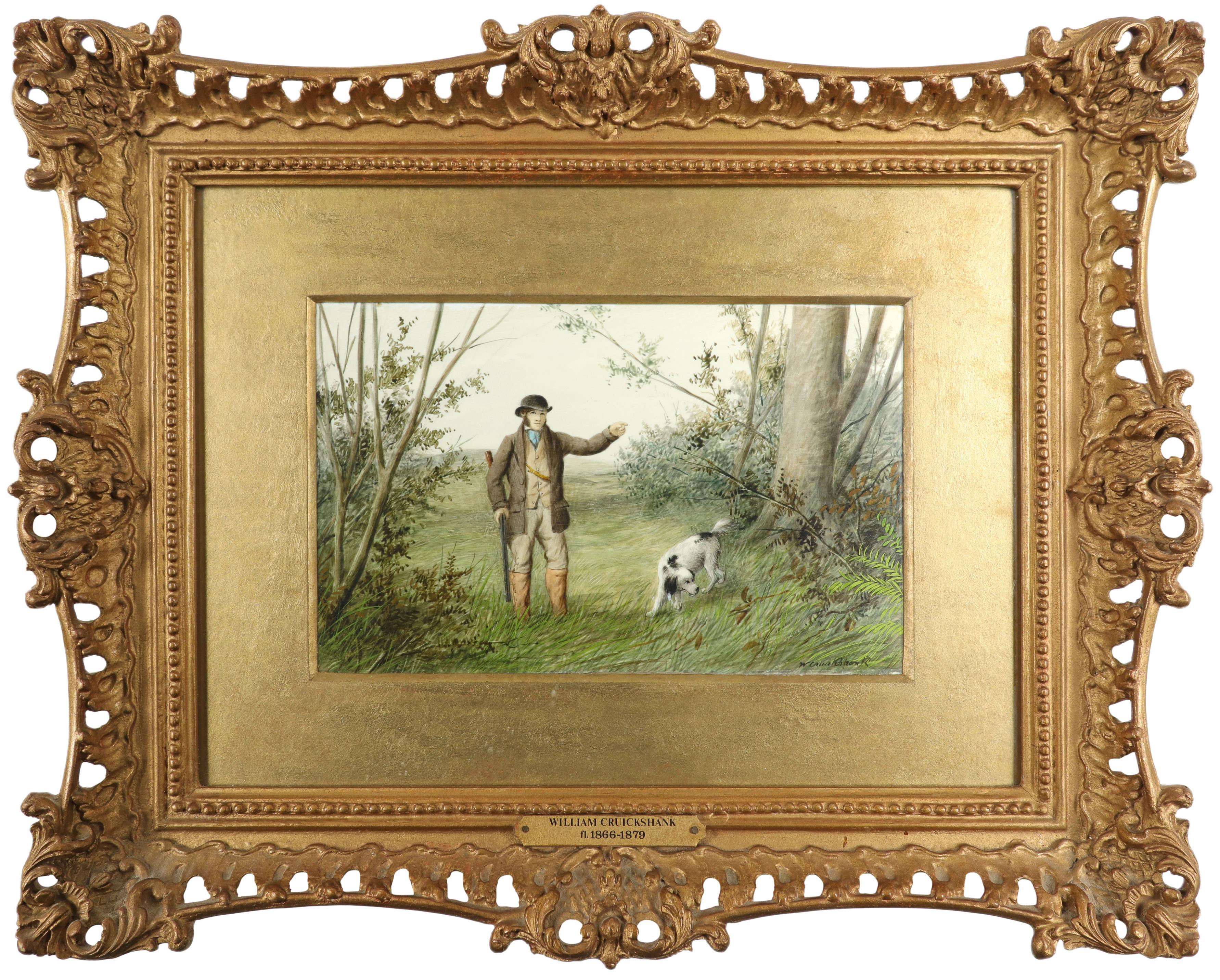 λWilliam Cruickshank (1848-1922) Hunter and his spaniel; Spaniel and two hares; The day's bag; Three - Image 2 of 12