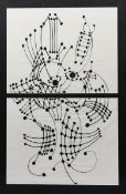 ‡Pablo Picasso, after (1881-1973) Lines and Dots screen print in black on cotton, printed by
