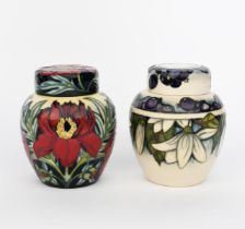 'Juneberry' a modern Moorcroft Pottery ginger jar and cover, dated 2000, painted in colours, and
