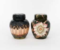 'Cluny' a Moorcroft Pottery ginger jar and cover, painted in colours, and a ginger jar and cover,