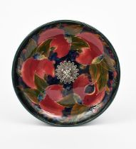 'Pomegranate' a Moorcroft Pottery plate with Tiffany & Co metal mount designed by William Moorcroft,