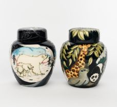 'Noah's Ark' a modern Moorcroft ginger jar and cover, painted in colours, and an 'Arctic Tundra'