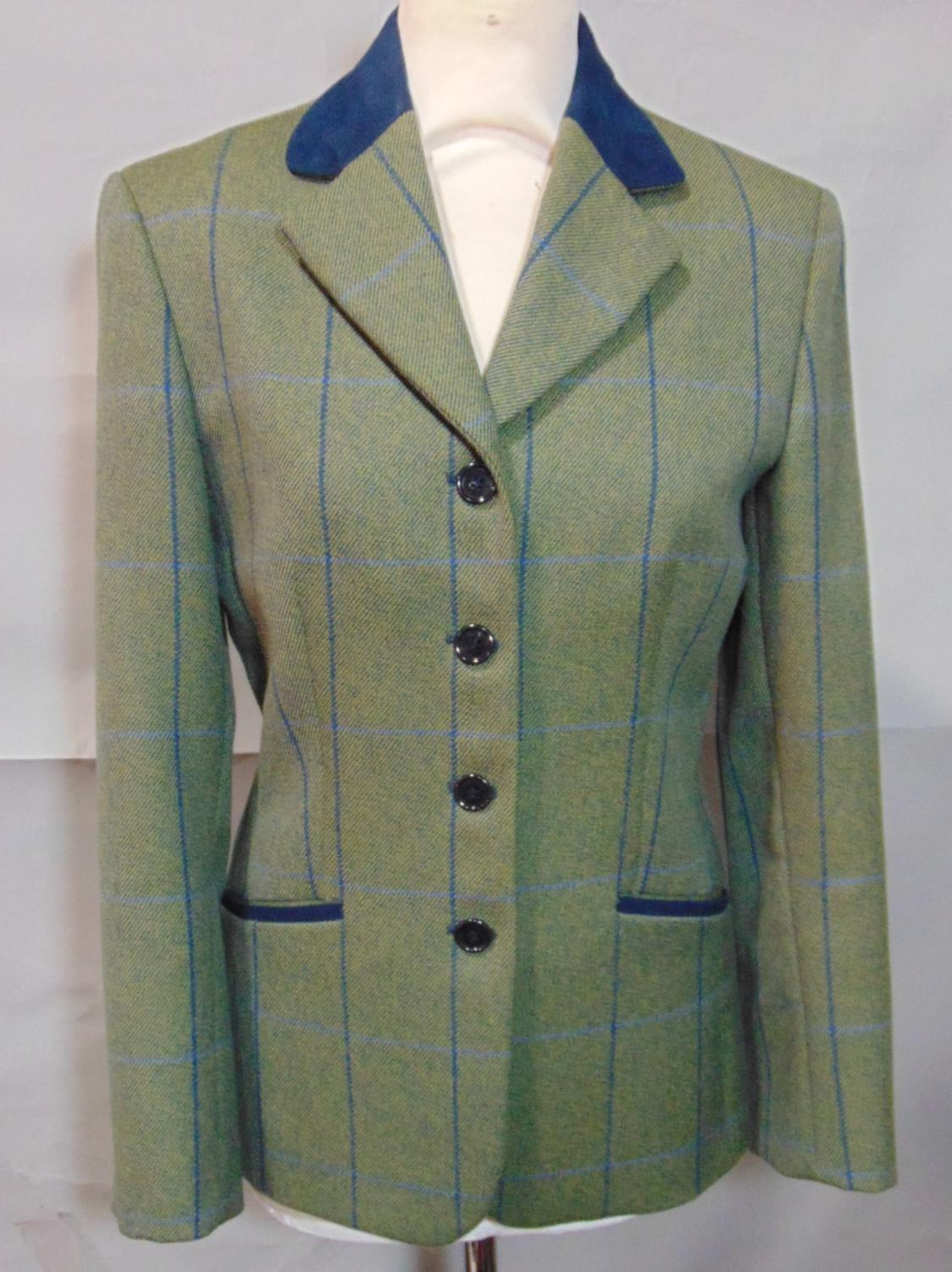 2 vintage ladies jackets including a short jacket by Cousins of Cheltenham in green woollen tweed - Image 3 of 6