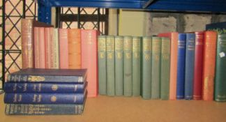 A mixed collection of classic literature and poetry books, two boxed editions of the Oxford