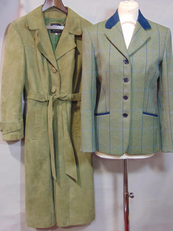 2 vintage ladies jackets including a short jacket by Cousins of Cheltenham in green woollen tweed