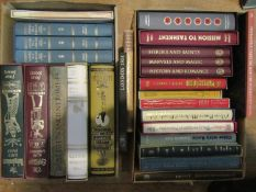 A collection of Folio Society books, various titles, 20 with slip cases and a further three