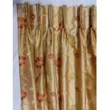 2 pairs of full length lined curtains, bespoke made by John Lewis with triple pleat heading and with