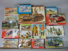 14 model kits, mostly Airfix, unchecked, most appear to be un-started and some have original