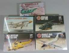5 Airfix model aircraft kits, all unused and sealed in original packaging, including Buccaneer,