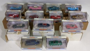 11 boxed Dinky model vehicles including 1955 Thunderbird and 1953 Buick Skylark, most with