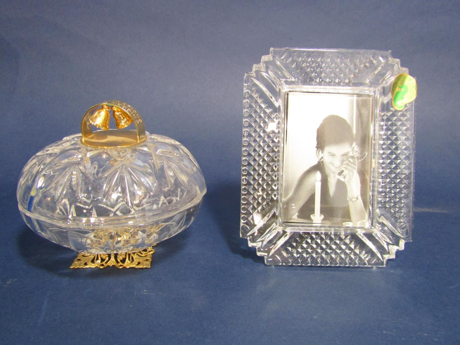 Two Waterford Crystal glass photograph frames, Stewart Crystal pickle pot and cover, two Killarney - Image 2 of 3