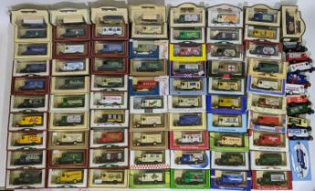 Approx 70 boxed model vehicles by Lledo, mostly 1931 Ford Morris vans which are commemorative and