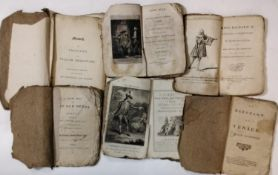 A mixed collection of items to include early 18th century paper covered publications of various