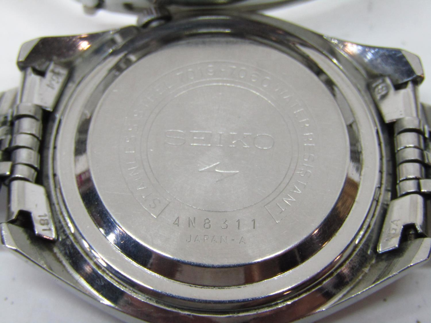 Vintage gent's Seiko 5 Actus Pepsi 21 jewels stainless steel wristwatch, currently running, 36mm - Image 8 of 8