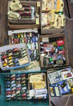 Large quantity of unboxed and unsorted Lledo model vehicles and un-matched empty boxes including