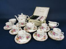 A collection of Royal Crown Derby Posies pattern wares comprising a tea for two set including