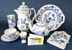 A quantity of German blue and white printed wares with stylised floral detail by Hutschenreuther,
