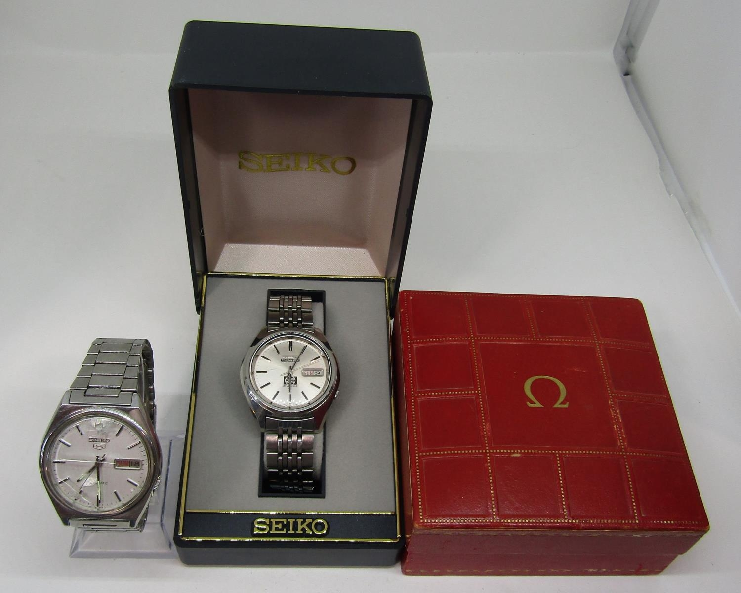 Vintage gent's Seiko 5 Actus Pepsi 21 jewels stainless steel wristwatch, currently running, 36mm - Image 2 of 8
