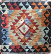 Novelty small Choli Kelim prayer mat/tiny rug, 51 x 52 cm