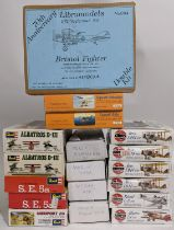 Collection of 24 model aircraft kits od WW1 planes, all believed to be complete and most sealed in