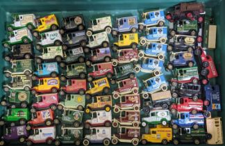 Approx 60 unboxed vehicles from Lledo 'Days Gone' range, mostly model T vans advertising various