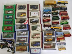"""Mixed collection of model vehicles including 14 boxed Oxford Die-Cast promotioinal vans, 5 """"The"""