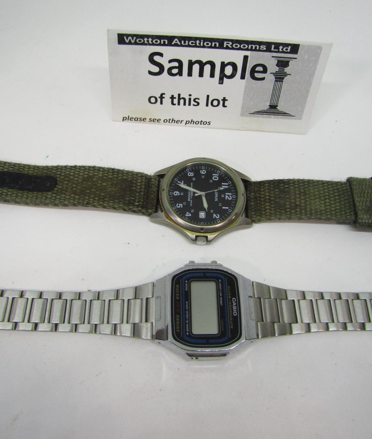 Four good vintage gents wristwatches to include a Rotary quartz divers watch with black dial and - Image 4 of 6