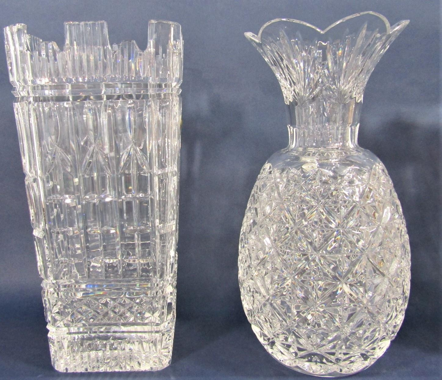 Waterford crystal twelve inch UK Guild Millennium vase x 2 with original box, together with - Image 2 of 2