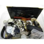 Large collection of various gent's and ladies wristwatches to include vintage gent's Empress 15