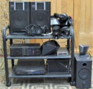 A Pioneer hi-fi separates system comprising an automatic stereo turntable PL-X100, stereo