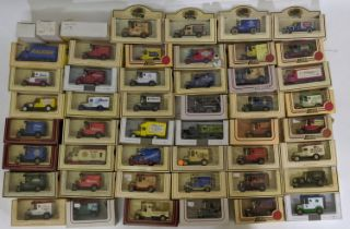 Collection of approx 48 boxed Lledo model vehicles, mostly 'Promotional' Ford Model T vans