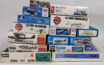 Collection of maritime related model aircraft kits, some in sealed cellophane. All believed to be