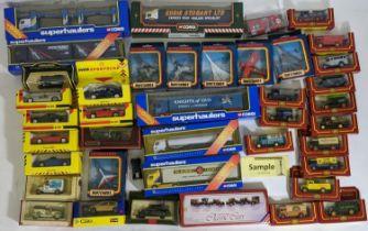 Large collection of boxed model vehicles including 5 Corgi 'Superhaulers', 1 Corgi Eddie Stobart