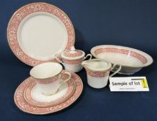 A quantity of contemporary Noritake wares with printed floral border comprising pair of oval serving