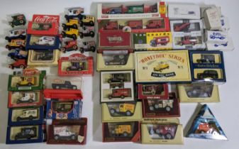 11 boxed model vans by Lledo promoting Coca-cola and Pepsi, with similar unboxed models, together