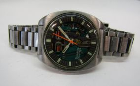 1960s gent Bulova Accutron Spaceview, T model, M9 signed 21276 on paperwork, open dial exposing