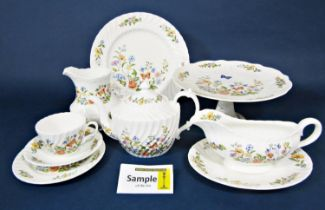 A collection of Aynsley cottage garden patternwares, comprising pair of oval serving dishes,