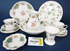 A collection of Royal Albert Berkeley pattern wares comprising oval serving plate, pair of cake