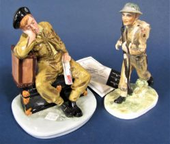 A Royal Doulton figure from the Classics series - The Railway Sleeper HN4418 limited edition