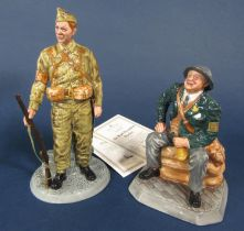 Two Royal Doulton limited edition figures from the Classics series - Air Raid Precaution Warden