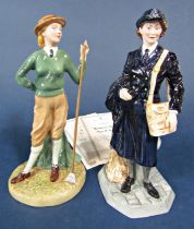 Two Royal Doulton limited edition figures from the Classics series - Women's Royal Naval Service