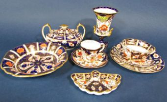 A collection of Royal Crown Derby pattern Imari wares comprising a trio pattern number 2451, a