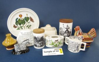 A collection of Portmerion wares including six Birds of Britain series bowls, three small Birds of