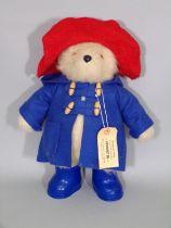 Vintage Paddington Bear by Gabrielle Design with hat , duffle coat, wellington boots and 'Darkest