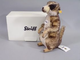 Steiff meercat 'Mungo', boxed with original packaging, tags and pin in ear, no 71249 (1)