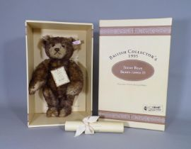 Steiff '1995 Brown Tipped 35 Teddy Bear' limited edition 915/3000, 36cm tall, in original box with