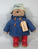 Vintage 1970's Paddington Bear with original hat, duffle coat, wellington boots and 'Darkest Peru'