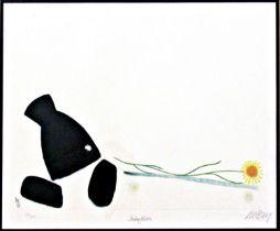 Mackenzie Thorpe (B.1956) - 'Interflora', signed, limited 550/850 colour print, Washington Green