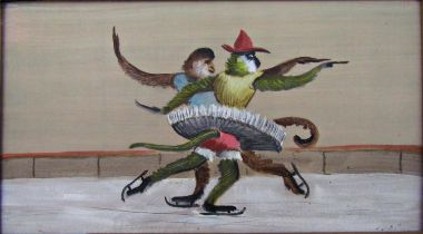 John Spencer Churchill (1909-1992) - 'Monkey's Skating', titled and dated 1980 verso with John