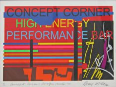 Bruce Mclean (B.1944) - 'Concept Corner - Arnolfini Revised', signed and dated 2005, limited edition